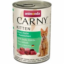 Консервы Animonda Carny Kitten с говядиной, курицей и кроликом для котят - 400 гр х 6 шт