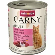 Animonda Carny влажный корм для взрослых кошек с говядиной, индейкой и креветками для взрослых кошек - 800 г х 6 шт