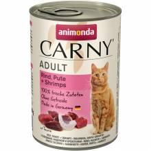 Animonda Консервы Carny Adult с индейкой и креветками для взрослых кошек любых пород - 400 гр х 6 шт