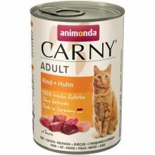 Animonda Консервы Carny Adult с говядиной и курицей для взрослых кошек всех пород - 400 гр х 6 шт