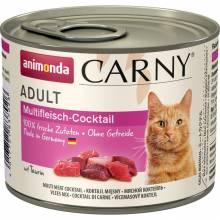 Animonda Консервы Carny Adult мясной коктейль для взрослых кошек всех пород - 200 гр х 6 шт