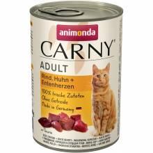 Animonda Консервы Carny Adult с курицей и уткой для взрослых кошек любых пород - 400 гр х 6 шт