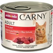 Animonda Консервы Carny Adult с отборной говядиной для взрослых кошек всех пород - 200 гр х 6 шт