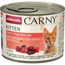Animonda Консервы Carny Kitten с говядиной и сердцем индейки для котят - 200 гр х 6 шт