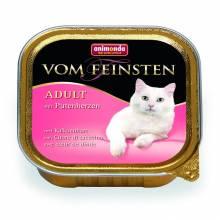 Animonda Консервы Vom Feinsten Adult с сердцем индейки для взрослых кошек всех пород - 100 гр х 32 шт