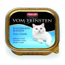 Animonda Консервы Vom Feinsten for castrated cats для кастрированных кошек с индейкой и форелью - 100 гр х 32 шт