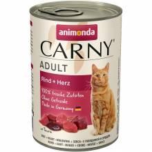 Animonda Консервы Carny Adult с говядиной и сердцем для взрослых кошек любых пород - 6 шт х 400 гр.
