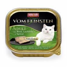 Консервы Animonda Vom Feinsten Adult Меню для гурманов с говядиной, филе лосося и шпинатом для взрослых - 100 гр х 32 шт