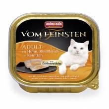 Консервы Animonda Vom Feinsten Adult Меню для гурманов с курицей, говядиной и морковью для взрослых привередливых - 100 гр х 32 шт