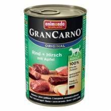 Консервы Animonda Gran Carno Original Adult c говядиной, олениной и яблоком для взрослых собак - 400 гр х 6 шт