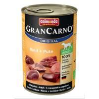 Консервы Animonda Gran Carno Original Adult с говядиной и индейкой для взрослых собак - 400 гр х 6 шт