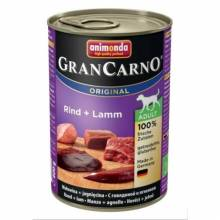 Консервы Animonda Gran Carno Original Adult с говядиной и ягненком для взрослых собак - 400 гр х 6 шт