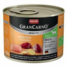 Animonda GranCarno Sensitiv / Анимонда Гран Карно Сенситив с индейкой и картофелем для чувствительных собак - 200 гр х 6 шт