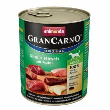 Animonda GranCarno консервы для взрослых собак c говядиной, олениной и яблоком для взрослых собак - 800 г х 6 шт
