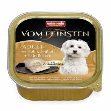 Консервы Animonda Vom Feinsten Adult Меню для гурманов с курицей, йогуртом и овсяными хлопьями для взрослых привередливых собак - 0,15 кг х 32 шт