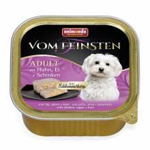 Консервы Animonda Vom Feinsten Adult Меню для гурманов с курицей, яйцом и ветчиной для взрослых привередливых собак - 0,15 кг х 32 шт