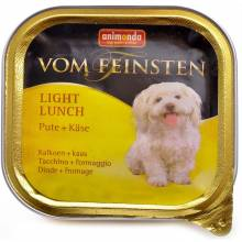 Animonda Vom Feinsten Light Lunch / Анимонда Вомфейнштейн Лайт Ланч для собак с индейкой и сыром - 150 гр х 22 шт