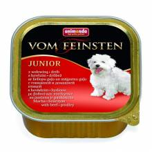 Animonda Vom Feinsten Junior / Анимонда Вомфейнштейн Юниор с говядиной и мясом домашней птицы - 150 гр х 22 шт