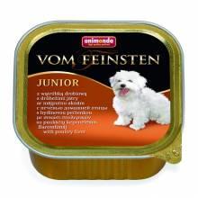 Animonda Vom Feinsten Junior / Анимонда Вомфейнштейн Юниор с печенью домашней птицы - 150 гр х 22 шт