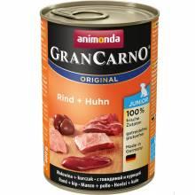 Консервы Animonda Gran Carno Original Junior с говядиной и курицей для щенков и юниоров - 400 г х 6 шт