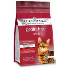 Arden Grange Adult Cat Chicken & Potato корм сухой беззерновой для взрослых кошек с курицей и картофелем 2 кг (4 кг)