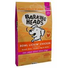 Barking Heads До последнего кусочка сухой корм класса холистик для взрослых собак крупных пород с курицей и рисом - 12 кг