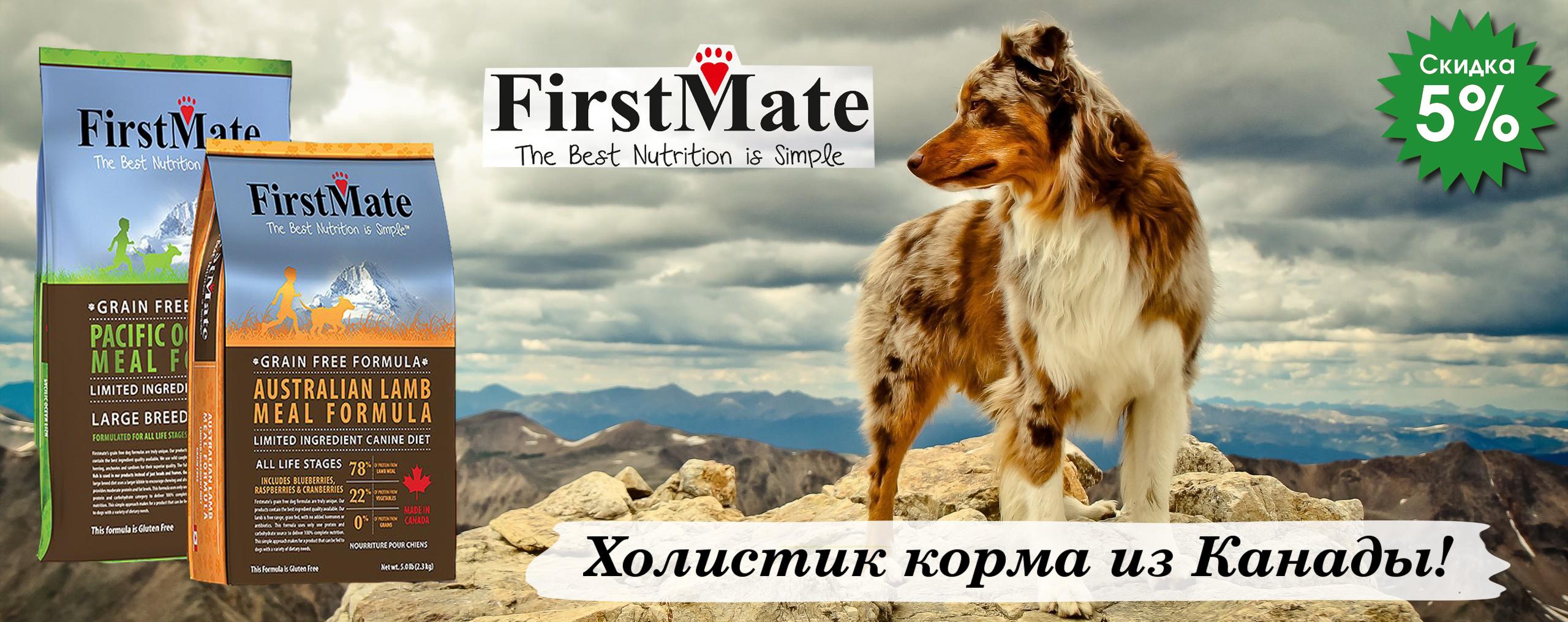 Скидка 5% на корм FirstMate
