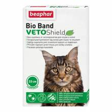 Ошейник Beaphar Bio Band Veto Shield для кошек и котят с 2 месяцев от блох на натуральных маслах зеленый 35 см