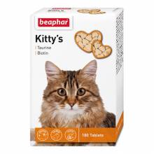 Beaphar Kitty's витаминизированное лакомство-сердечки для кошек с таурином и биотином - 180 таблеток