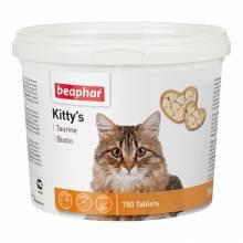 Beaphar Kitty's витаминизированное лакомство-сердечки для кошек с таурином и биотином - 750 таблеток