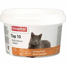 Beaphar Top 10 мультивитамины для кошек с таурином и L-карнитином - 180 таблеток