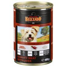 Belcando Super Premium консервы для собак отборное мясо с печенью - 800 гр х 12 шт (400 гр х 24 шт)