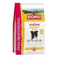BioMill Swiss Professional Medium Adult сухой корм для здоровых собак средних пород уже на втором году жизни - 12 кг
