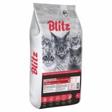 Blitz Adult Cats Chicken сухой корм для взрослых кошек с курицей - 2 кг (10 кг)