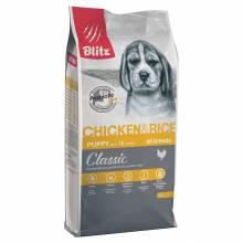 Blitz Puppy Chicken & Rice сухой корм для щенков с курицей и рисом 15 кг