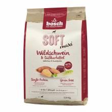 Полувлажный корм Bosch Soft Maxi для собак крупных пород с мясом кабана и бататом - 1 кг (2,5 кг)