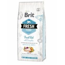 Сухой корм Brit Fresh Fish with Pumpkin Adult Large Muscles & Joints для собак крупных пород с рыбой и тыквой ,5 кг (12 кг)