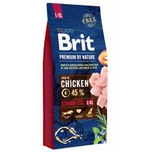 Brit Premium by Nature Senior L+XL сухой корм для пожилых собак крупных пород с курицей 3 кг (15 кг)