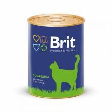 Консервы Brit Premium Beef для кошек всех пород с говядиной - 0,34 кг х 12 шт