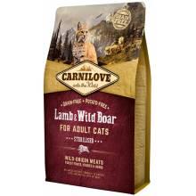 CarniLove с мясом ягненка и дикого кабана сухой корм для взрослых кастрированных котов и стерилизованных кошек - 2 кг (6 кг)