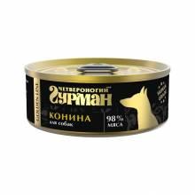 Влажный корм Четвероногий Гурман Golden line конина натуральная в желе для собак - 100 г x 24 шт