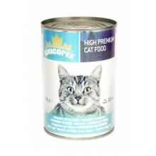 Chicopee Cat Chunks with Fish консервы с кусочками рыбы в соусе для кошек любого возраста - 400 гр (400 г х 24 шт)