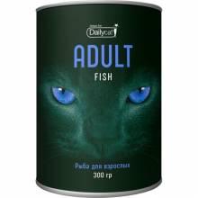Сухой корм Dailycat Unique line Adult для взрослых кошек с рыбой - 300 г
