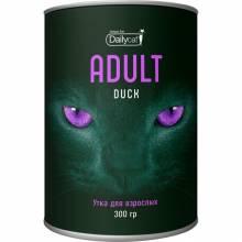 Сухой корм Dailycat Unique line Adult для взрослых кошек с уткой - 300 г