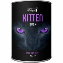 Сухой корм Dailycat Unique line Kitten для котят с уткой - 300 г
