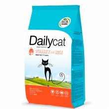 DailyCat ADULT Indoor Turkey & Rice сухой корм для домашних кошек с индейкой 400 гр (1,5 кг),  (3 кг), (10 кг)