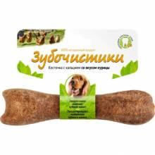 Деревенские лакомства Зубочистики Косточка жевательная для собак средних пород 10-25 кг Курица - 1 шт 95 г