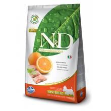 Farmina N&D сухой корм для взрослых собак мелких пород с рыбой и апельсином 800 гр
