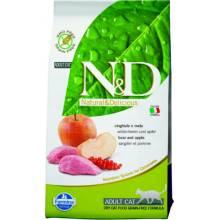 Farmina N&D Grain-Free Feline Boar & Apple Adult сухой корм для кошек с мясом кабана и яблоком 1,5 кг (5 кг) (10 кг)