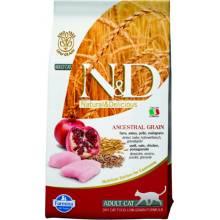 Farmina N&D Low-Grain Feline Chicken & Pomegranate Adult сухой корм для кошек с курицей и гранатом 1,5 (5 кг) (10 кг)